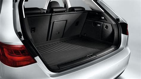 audi q2 rubber boot liner audi a3 s3 sportback genuine luggage compartment shell