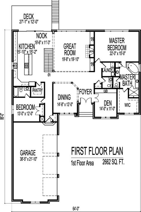 Home Floor Plans 2800 Square Feet stone cottage ranch house floor plans with 2 car garage 2