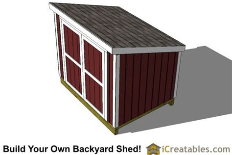 6x8 Shed Plans Free by 6x8 Lean To Lean To Plans With Walls