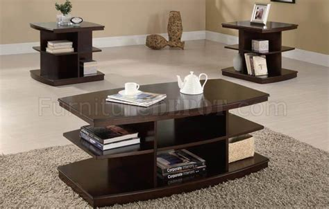 espresso finish modern coffee table w optional end table