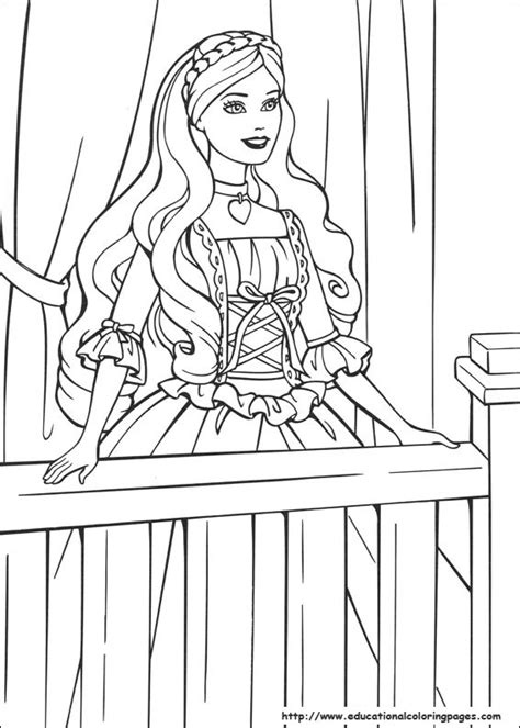 coloring pages barbie princess barbie princess coloring pages free for kids