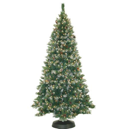 65ft frosted pre lit artificial christmas trees pre lit 7 frosted pine artificial tree 500 clear lights walmart