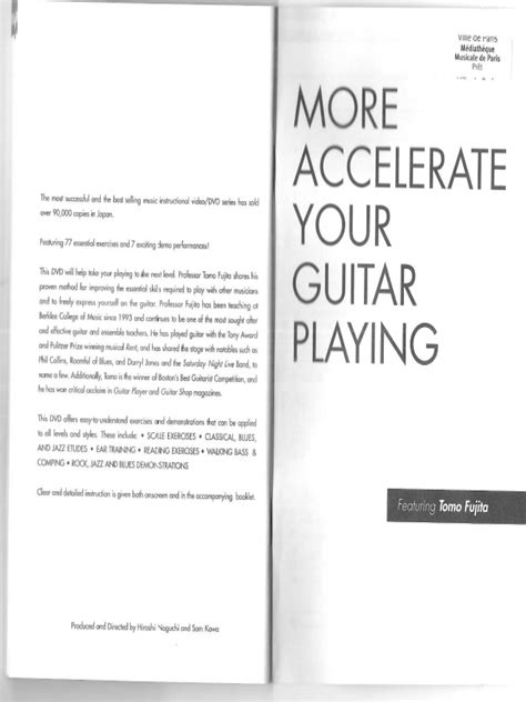 Pdf South Your Some More by Tomo Fujita More Accelerate Your Guitar 2007 Pdf