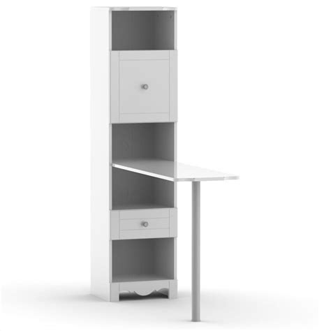 bookcase desk in white 311803