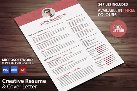 creative resume updated in psd doc docx pdf free