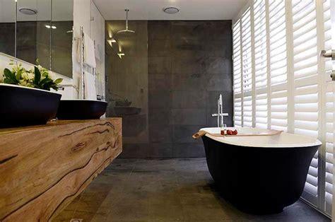 Houzz Bathroom Ideas matte black bath and basins for the block josh and