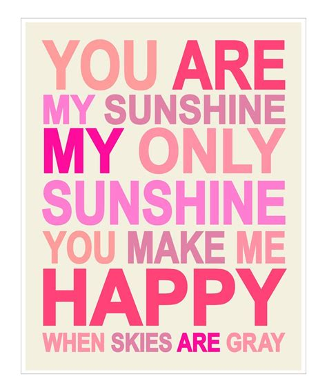 full version you are my sunshine finny and zook pink you are my sunshine gicl 233 e print