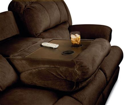 double reclining sofa with fold down table dual reclining sofa with fold down table refil sofa