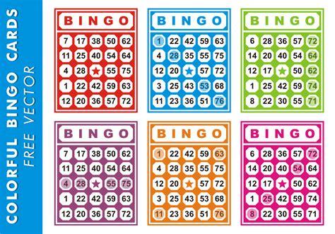 bingo template cards for free colorful bingo cards free vector free vector