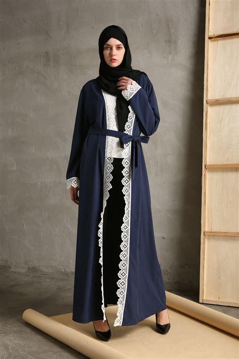 Dress Maxi Wanita Muslim Kaftan Brokat Lace Import Jumbo Diya abaya jilbab open cardigan kaftan muslim dress arab cocktail maxi dresses ebay