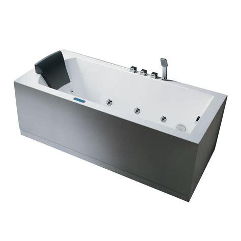 Bathtub Drain Home Depot by Ariel 5 Ft Right Drain Bathtub In White Am154jdtsz R 59