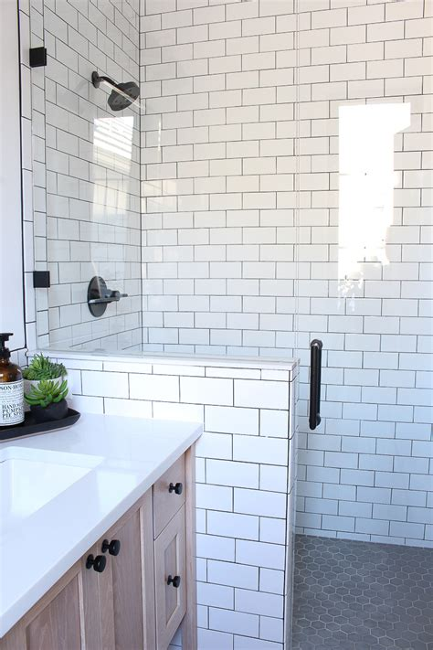 subway tile in bathroom ideas 2018 a classic white subway tile bathroom designed by our the house of silver lining