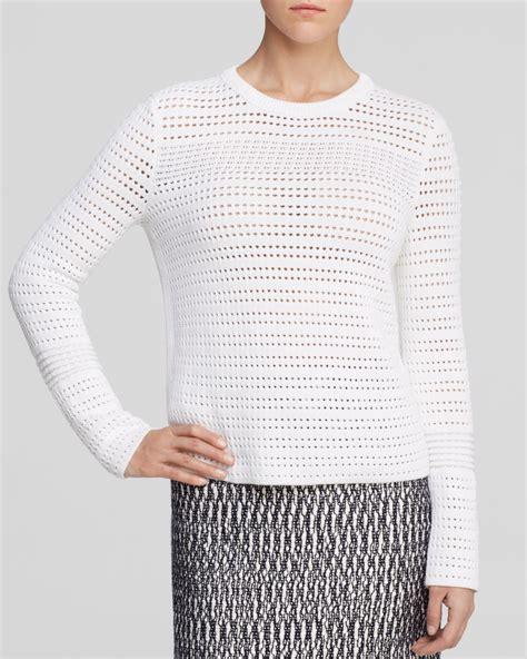 Burch Open Knit Sweater In White Lyst