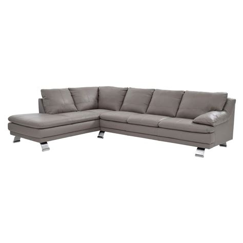 light gray leather couch rio light gray leather sofa w left chaise el dorado