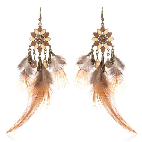 Fashion Chandelier Earrings Fashion Feather Charm Chain Dangle Chandelier Earrings Jewelry Ebay