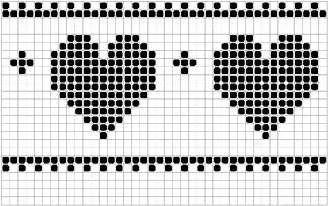 heart knitting pattern chart hearts and stripes knit chart v1 knitperfect com