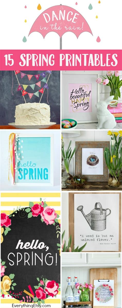 diy printable home decor 15 free spring printables diy decor