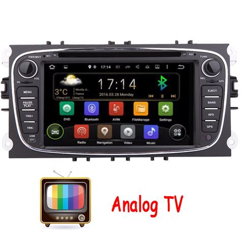 Android Tv Analog analog tv dual android 4 2 car dvd gps player for ford mondeo ford focus 2012 2013 2014