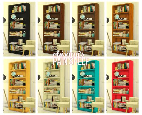 sims 4 cc desk shelf my sims 4 blog plain shelf by chisami