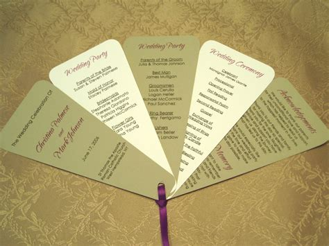fan template for wedding program choosing the fan style of your wedding programs