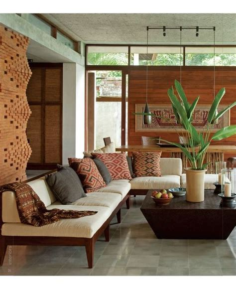 Meaning Of Living Room In Indonesia Living Rooms Balinese Interior Design Bali Style Brick