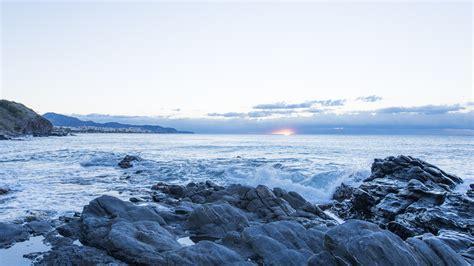 fotos invierno playa fotos gratis playa paisaje mar costa rock oceano