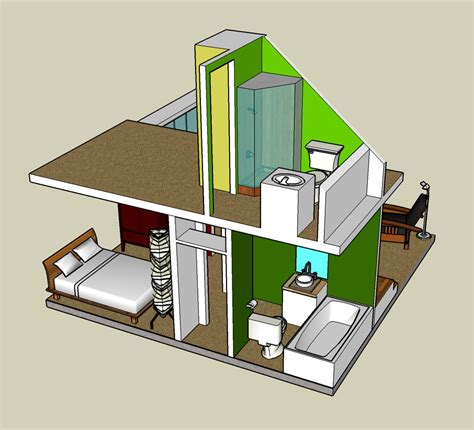 amazing 3d small cottage house plan in addition to 3d 2 story google sketchup 3d tiny house designs