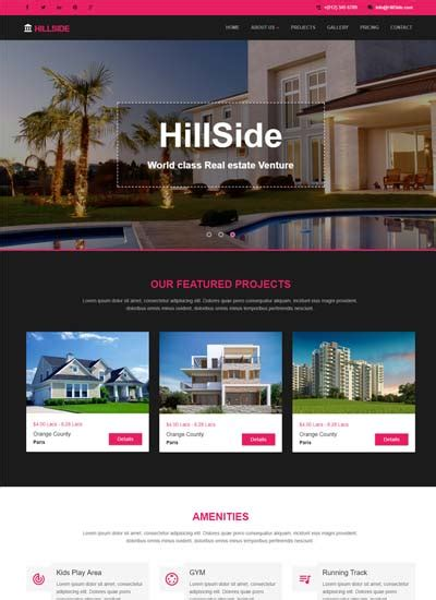 Free Responsive Bootstrap Html Web Templates Real Estate Website Templates