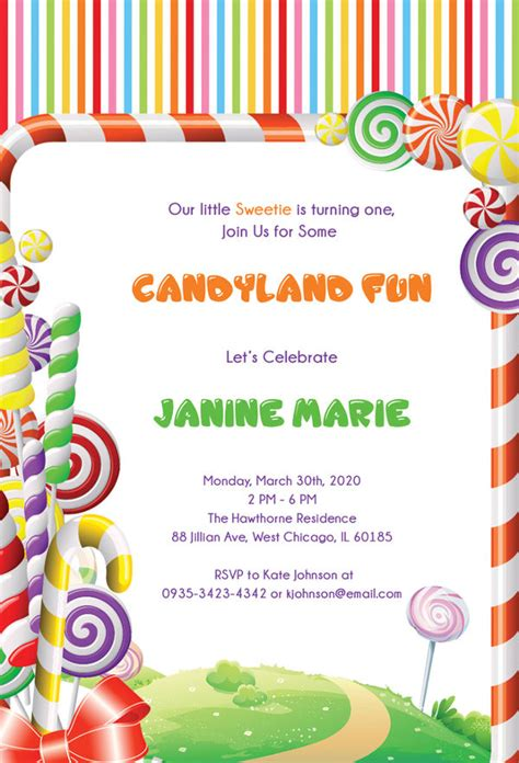 candyland cards template 13 wonderful candyland invitation templates free