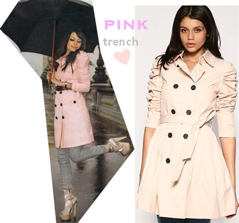 celebrity pink trench coat burberry pink trench coat from ss 2010 look for less