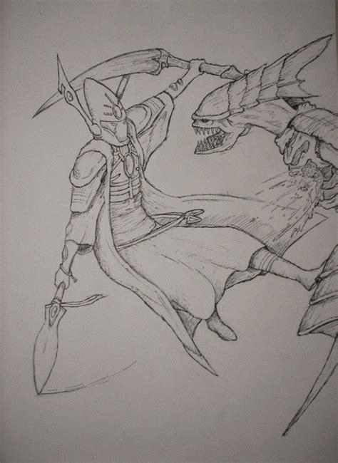 sketchbook vs sketchpad farseer vs tyranid sketch by equinx on deviantart