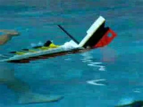 lego boat sinking in pool lego titanic 2 sinking read description youtube