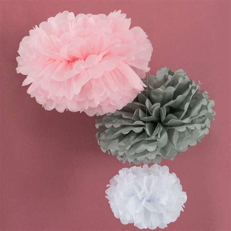 Pom Poms From Tissue Paper - large tissue paper pom pom by berylune