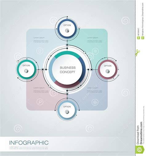 How To Make A Cycle With Paper - vector infographics 3d paper cycle diagram template stock