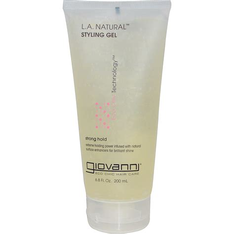Giovanni L A Natural Styling Gel Strong Hold 6 8 Fl | giovanni l a natural styling gel strong hold 6 8 fl