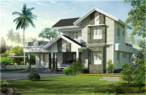 1975 sq home exterior design kerala home