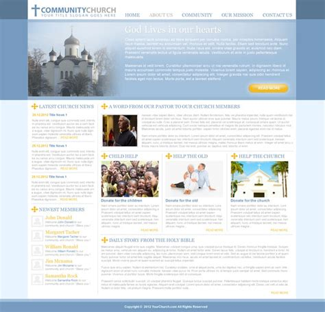 Free Church Website Template Templates Perfect Free Christian Website Templates