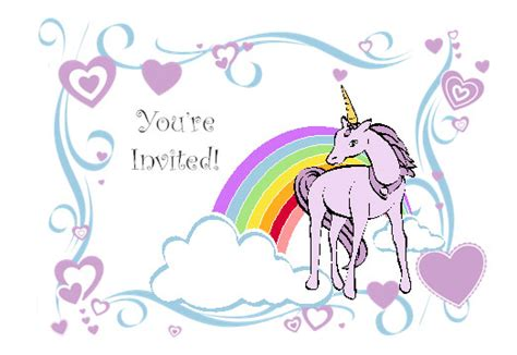 unicorn birthday invitation templates unicorn birthday invitation template