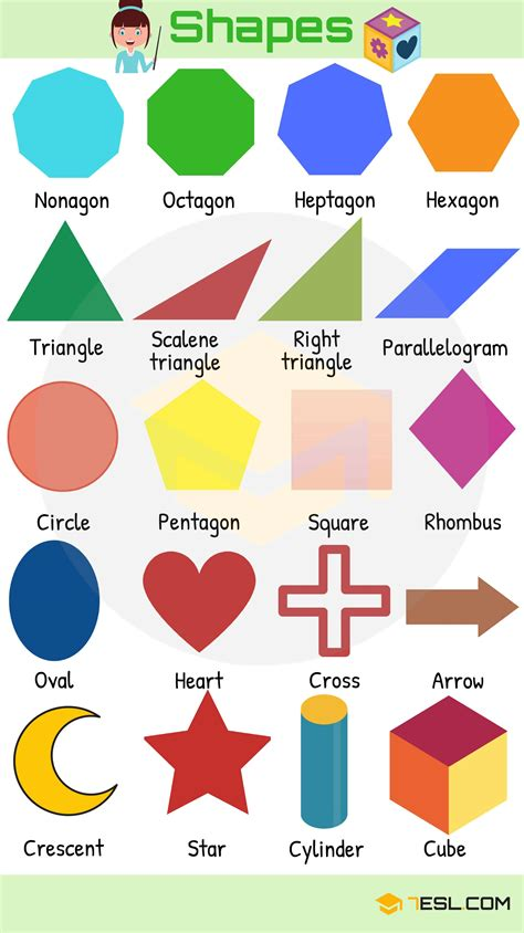 shapes and colors shapes and colors vocabulary learn with pictures