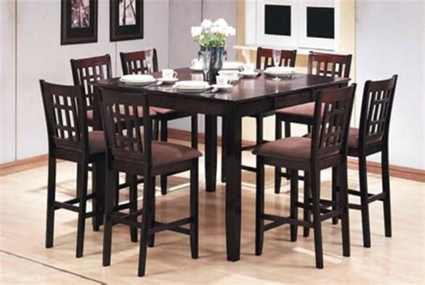 dining room pub tables 8 seat pub table pc pub style dining set table 8