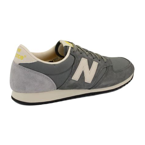 new balance 420 u420ukg womens laced suede trainers shoes grey