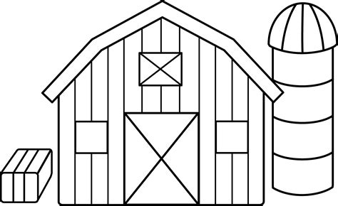 barn coloring pages colorable farm free clip