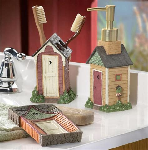 outhouse bathroom set country outhouse soap dish toothbrush holder soap
