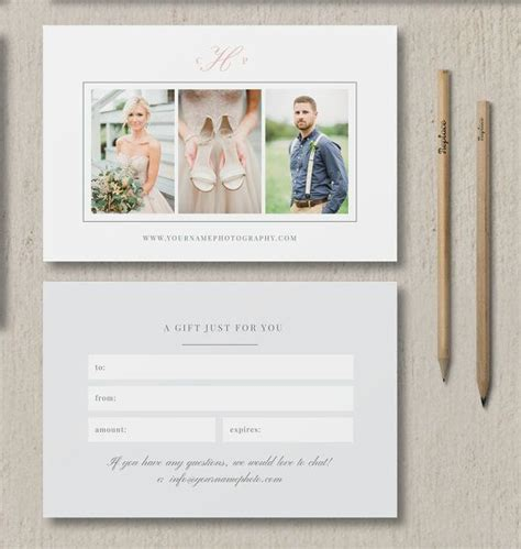 photography gift card template photographer template gift card photography marketing