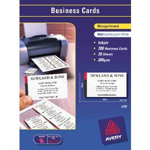 avery microperforated business cards 200 pack officeworks