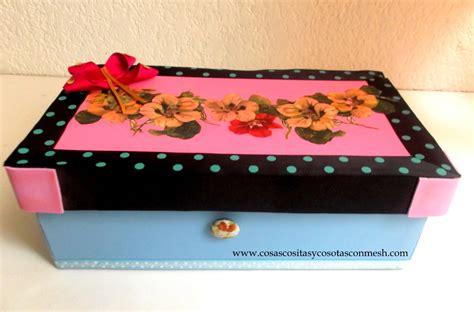 como decorar ina caja como decorar una caja de zapatos cositasconmesh