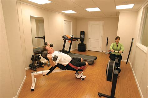 home exercise room design layout basement finishing ideas finished basement image gallery