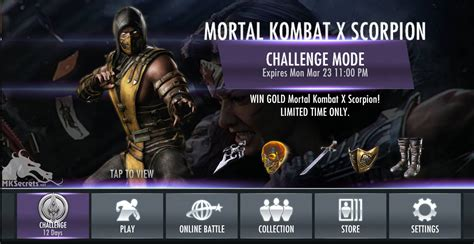 injustice gods among us new challenge mortal kombat x scorpion invades the injustice mobile