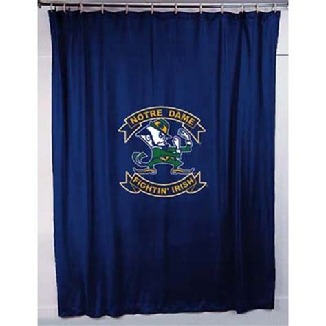 Notre Dame Bathroom Accessories Notre Dame Fighting Locker Room Shower Curtain