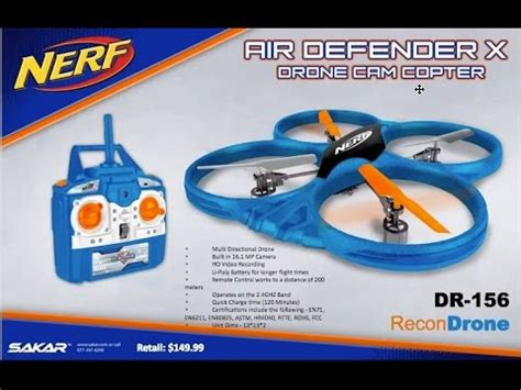 nerf drone nerf recon drones part 2 air defender and recon drone